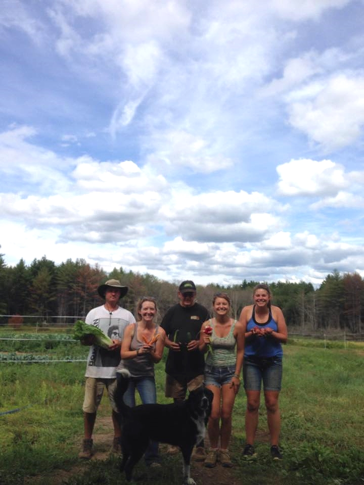 The farm crew. Not pictured...our moms, Abby's Dad and lil' Maggie. They are a huge part of the farm team as well.