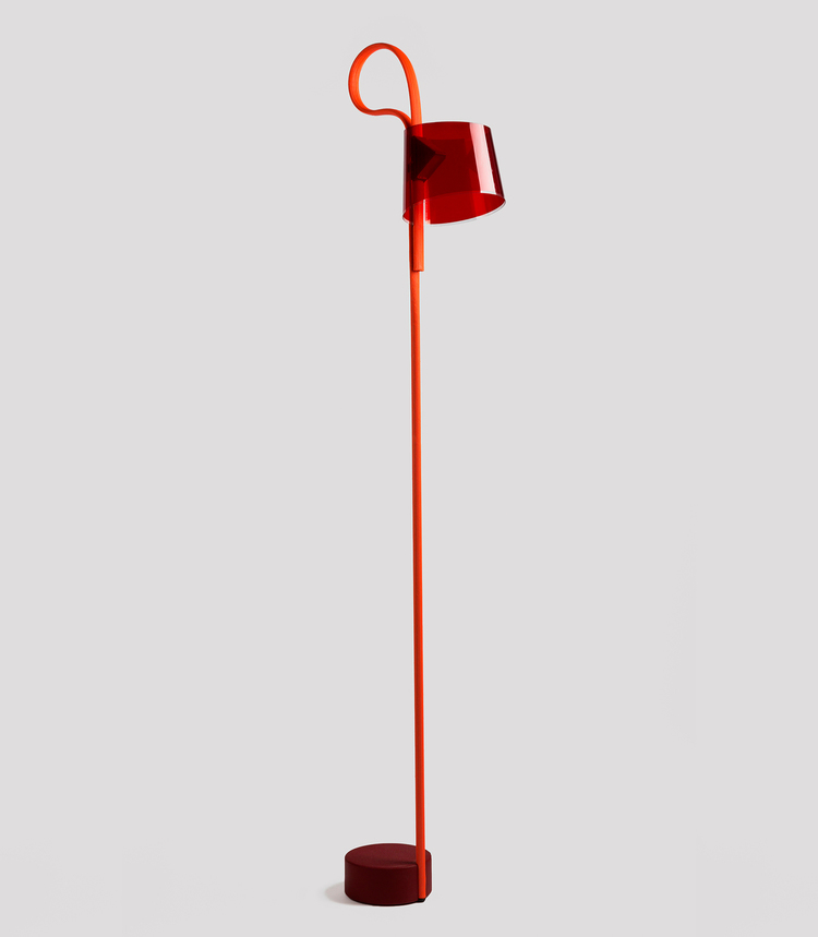 Based on a rope mechanism with slender coiled base, the Rope Trick Light by Stefan Diez.