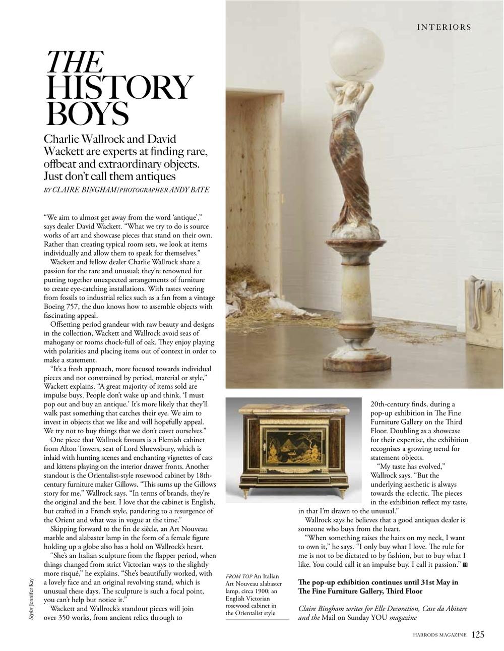 Harrods magazine, April 2014