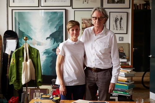 Paul Smith with Nathalie de Leval