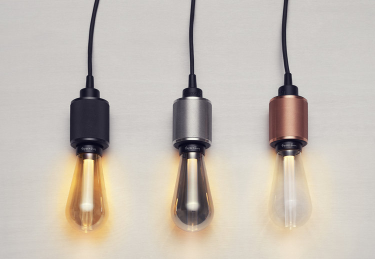 'Buster' bulb in gold, smoked and clear crystal, £39.99 each