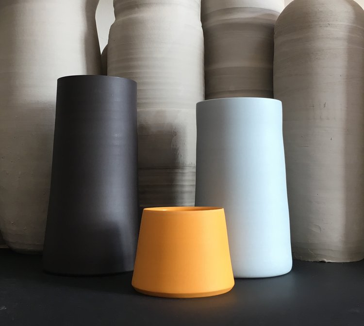Arjan Van Dal's chalky ceramics are on show at Hothouse