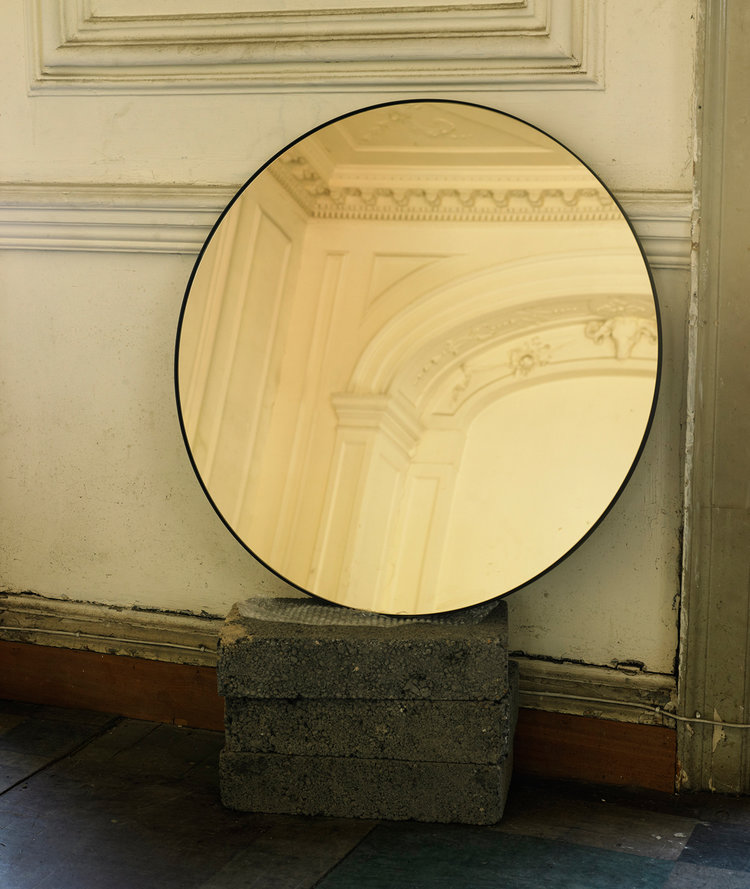 Mark McCormick's cool copper  'Port Round'  mirror for  Novocastrian  is my designer crush in the Design Event MART