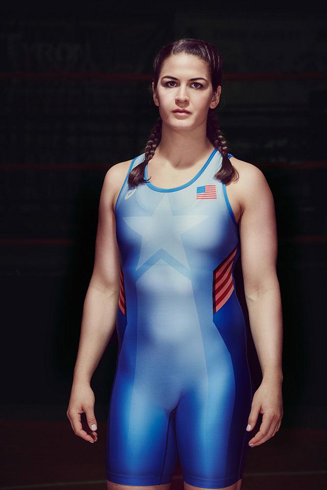 Michael Scott Slosar   Asics US Olympic Wrestling   Adeline Gray