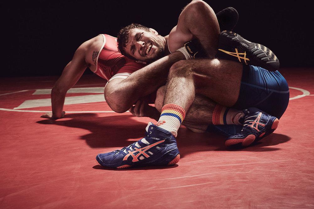 Michael Scott Slosar   Asics US Olympic Wrestling   Tony Ramos & Reece Humphrey