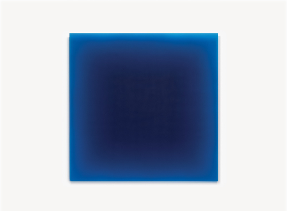 Peter Alexander, 6/1/12, (Blue Square), 2012, Urethane, 40 x 40 inches