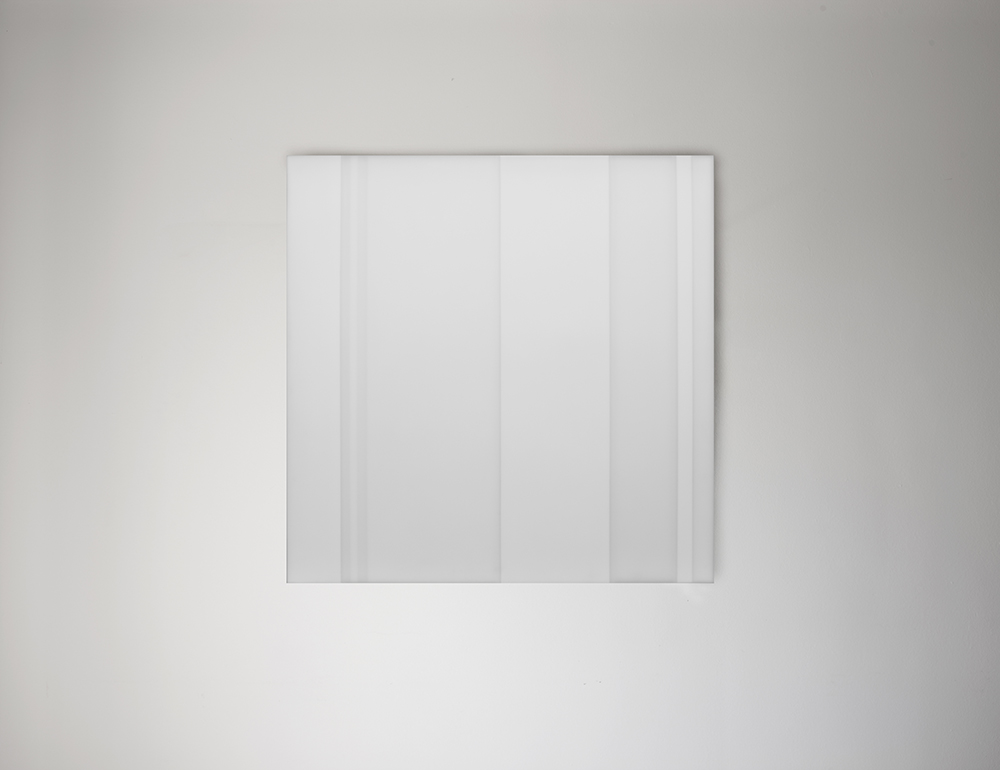 Steve Burtch No. 12045, 2012, acrylic & graphite on cast acrylic panels, 44 x 44 inches