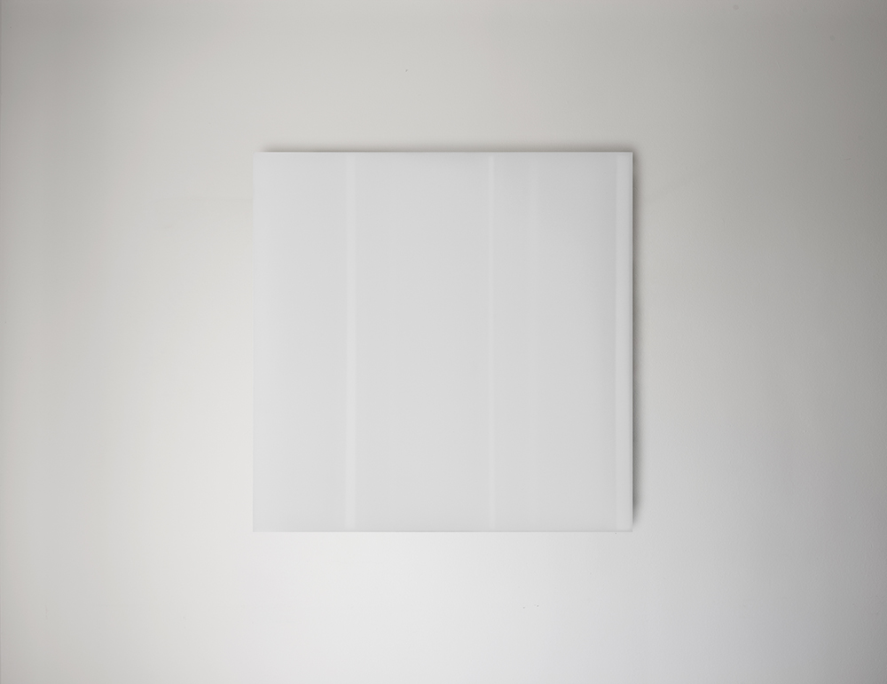Steve Burtch, No. 12031, 2012, acrylic & graphite on cast acrylic panels, 22 x 22 inches