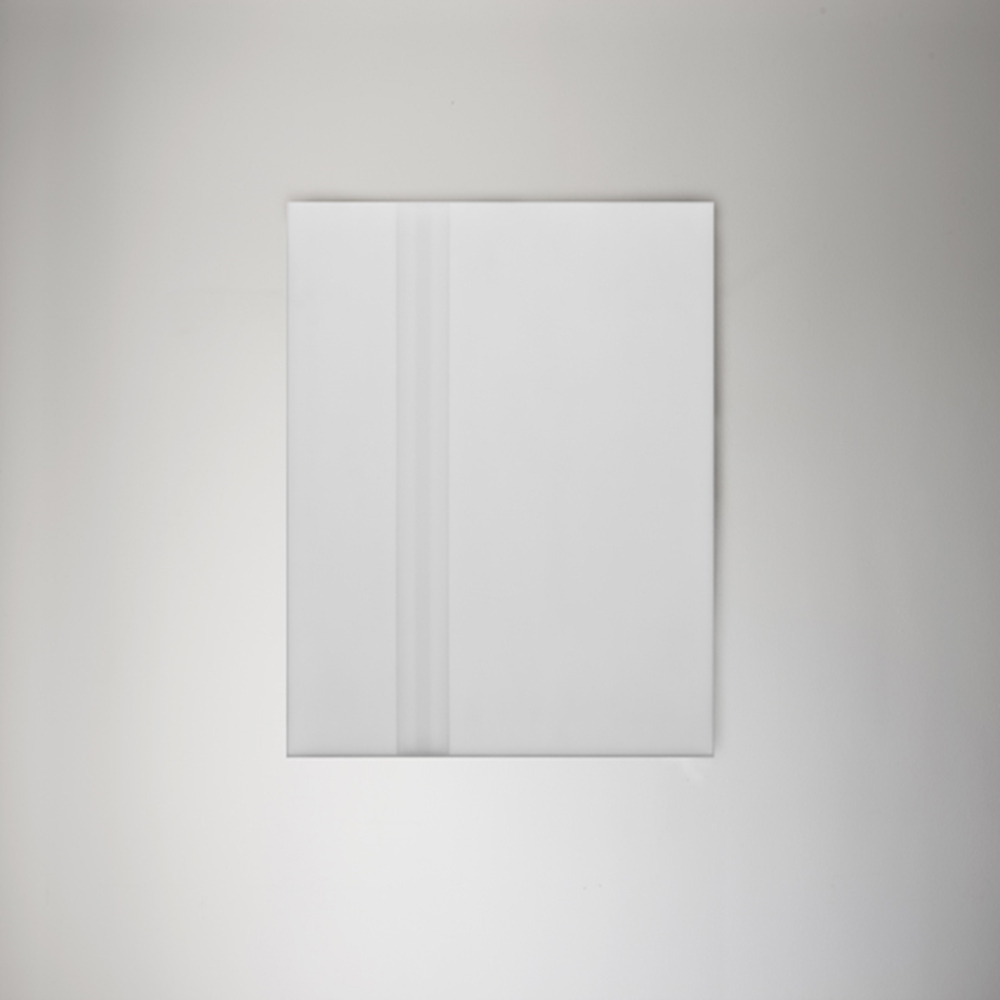 Steve Burtch, No. 12032, 2012, acrylic & graphite on cast acrylic panels, 22 x 22 inches
