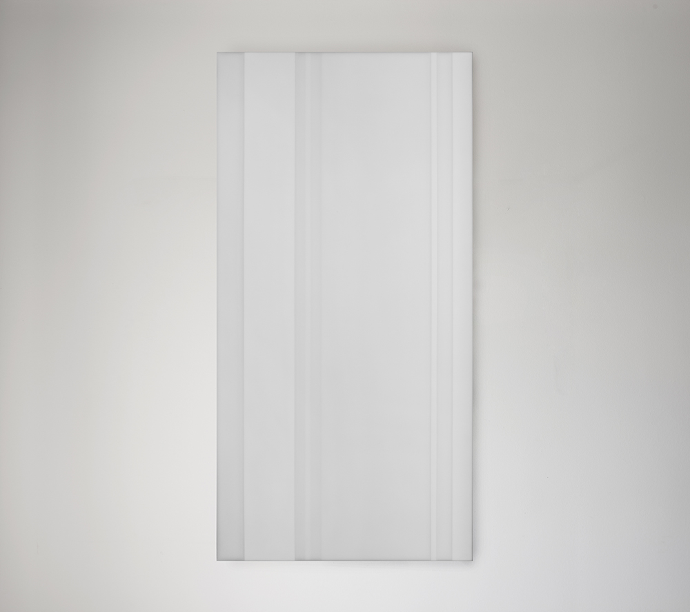 Steve Burtch, No. 12035, 2012, acrylic & graphite on cast acrylic panels, 72 x 48 inches
