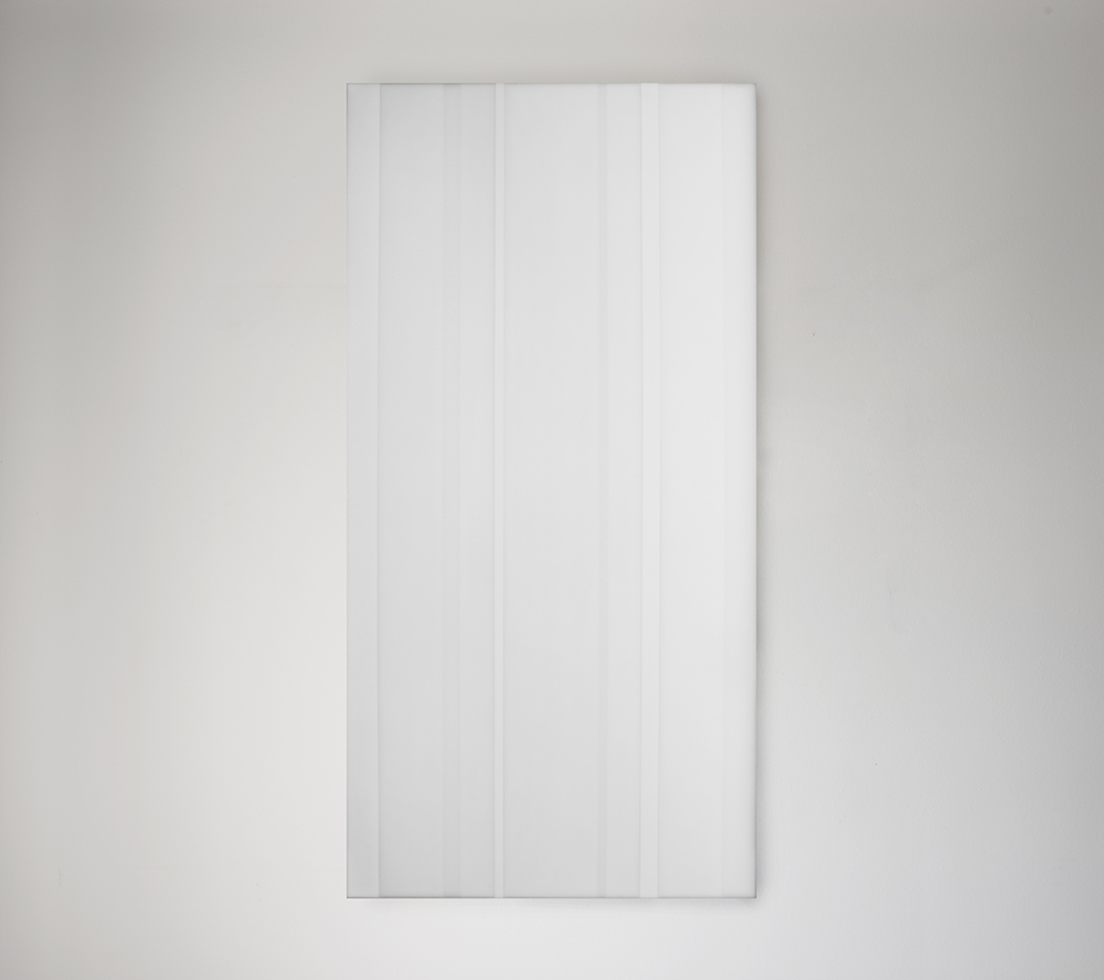 Steve Burtch, No. 12042, 2012, acrylic & graphite on cast acrylic panels, 22 x 22 inches