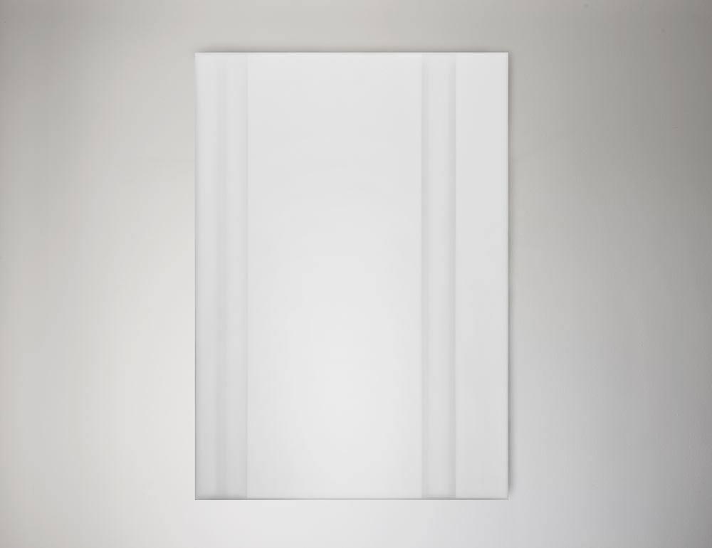 Steve Burtch, No. 12043, 2012, acrylic & graphite on cast acrylic panels, 22 x 22 inches