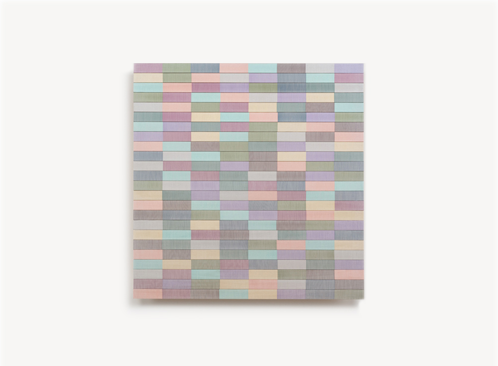 Brian Wills, Untitled, 2013, Rayon thread on basswood, 24 x 24 inches