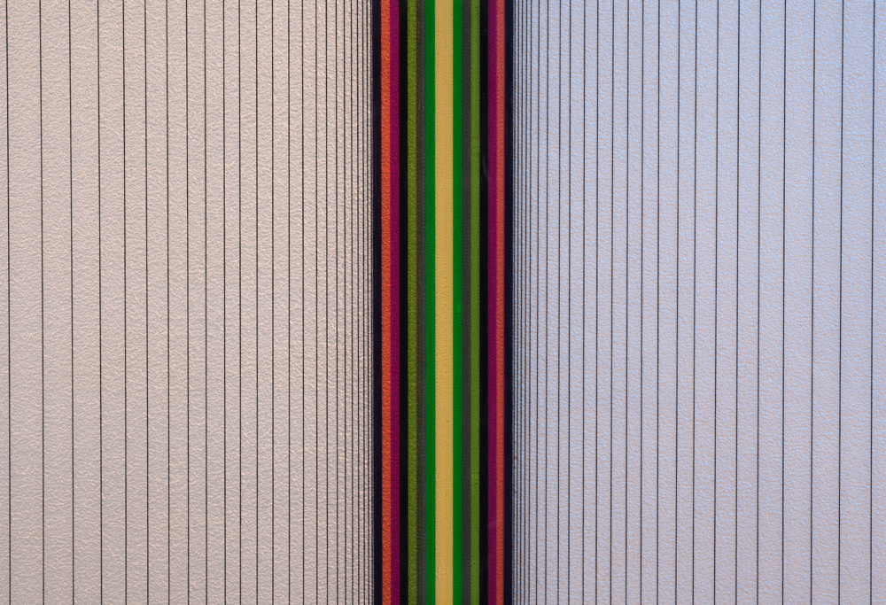 Brian Wills, Untitled 2012, Oil, rayon thread  and linear polyurethane on wood, 24 x 24 inches