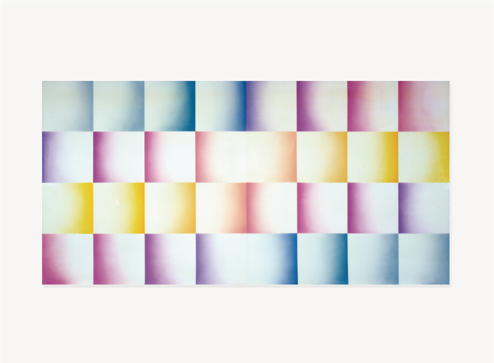 Judy Chicago, Evening Fan – Fresno Fans Series, 1971, Sprayed acrylic on acrylic, 60 x 120 inches