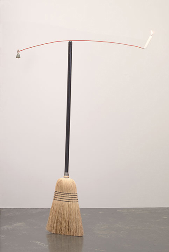 "Paul Kos, Equilibre IV, 1992, Broom, coat hanger, candle and bell, 57 x 40 inches                                  Normal     0                     false     false     false         EN-US     JA     X-NONE                                                                                                                                                                                                                                                                                                                                                                                                                                                                                                                                                                                                                                                                                                                    /* Style Definitions */ table.MsoNormalTable 	{mso-style-name:""Table Normal""; 	mso-tstyle-rowband-size:0; 	mso-tstyle-colband-size:0; 	mso-style-noshow:yes; 	mso-style-priority:99; 	mso-style-parent:""""; 	mso-padding-alt:0in 5.4pt 0in 5.4pt; 	mso-para-margin-top:0in; 	mso-para-margin-right:0in; 	mso-para-margin-bottom:10.0pt; 	mso-para-margin-left:0in; 	mso-pagination:widow-orphan; 	font-size:12.0pt; 	font-family:Cambria; 	mso-ascii-font-family:Cambria; 	mso-ascii-theme-font:minor-latin; 	mso-hansi-font-family:Cambria; 	mso-hansi-theme-font:minor-latin; 	mso-fareast-language:JA;}"
