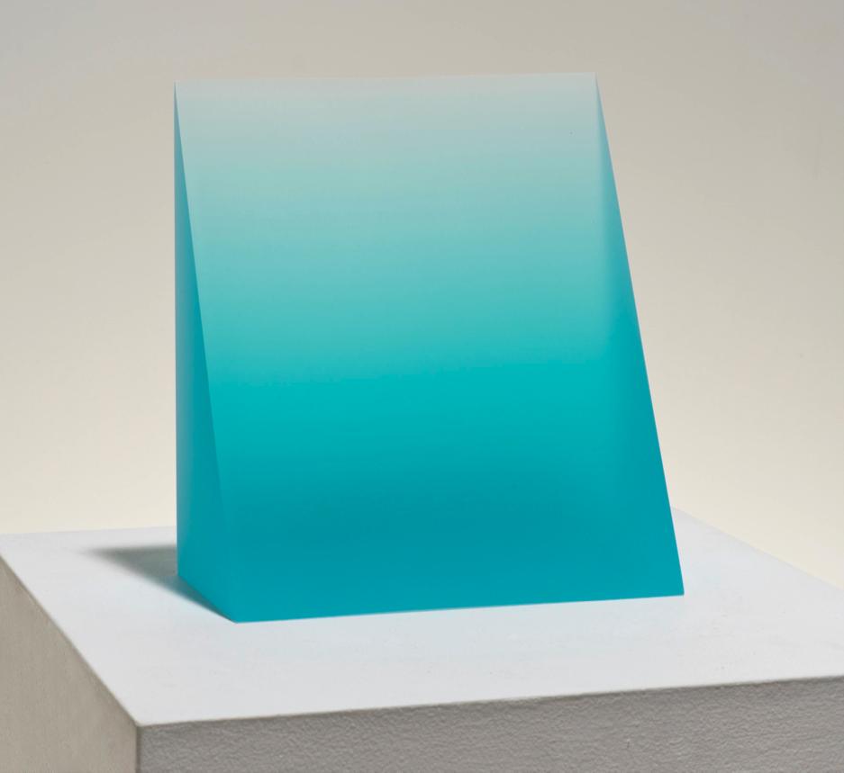 "Peter Alexander    Turquoise Wedge,2015  Urethane  6 5/8"" x 8"" x 8"""
