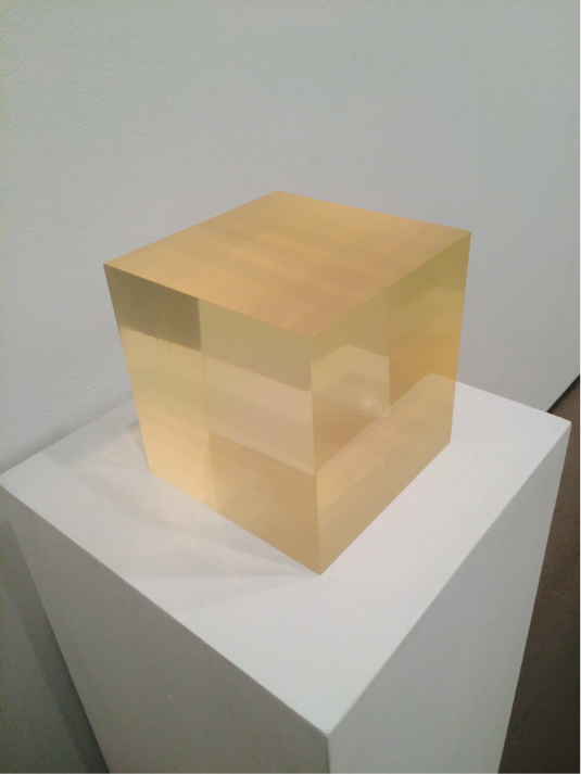 "Peter Alexander   Untitled (Sphere within Cube), 1965  Polyester Resin  7.25"" x 7.25"" x 7.25"""