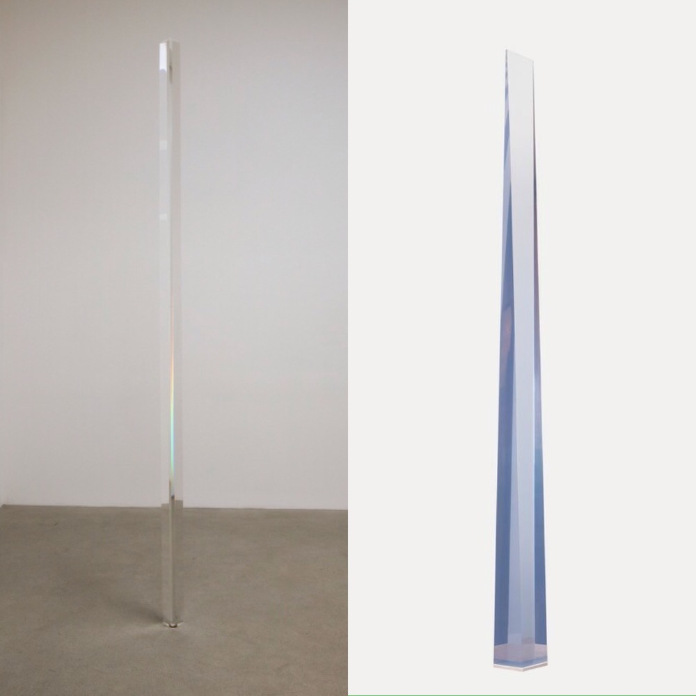 Robert Irwin, Light Column, 1970 Peter Alexander, Purple Wedge, 1969