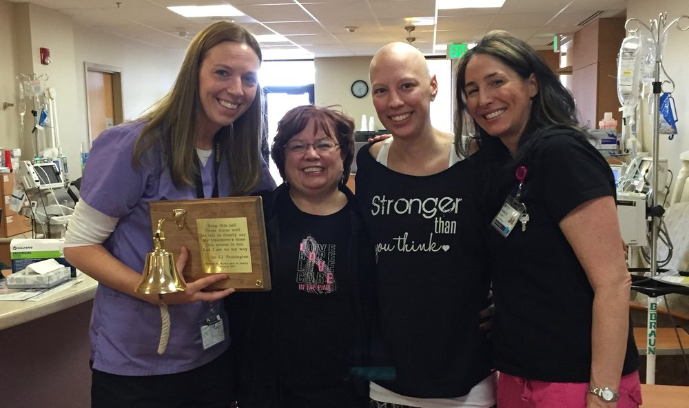 From R to L: Briana Zimbelman, RN, Debbie's mom, Debbie Oddi, and Kathy Goeringer, RN.