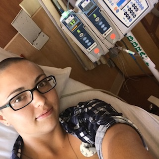 Bri undergoing treatment for cancer