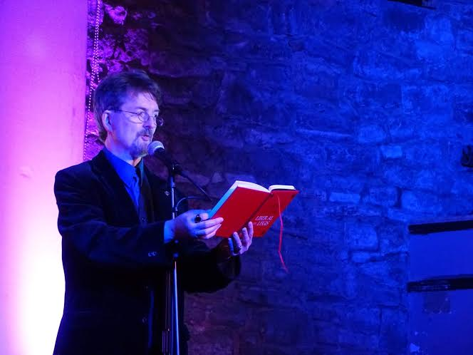 Matthew Levi Steven reading at the 2016 Glastonbury Occult Conference