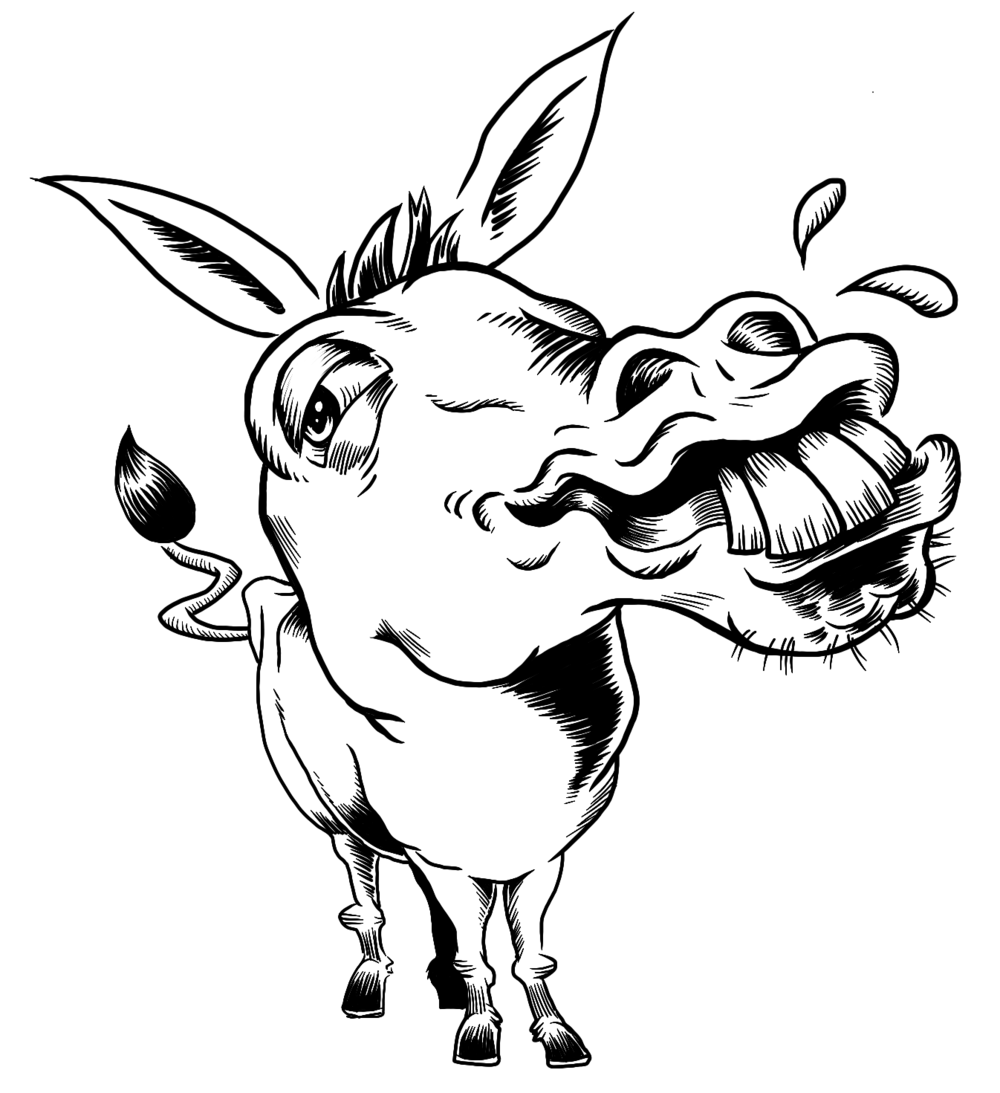 Line Drawing Donkey : Donkeys — malcontent comics incorporated presents