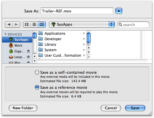 Quicktime: Create a Reference Movie