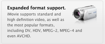 iLife Video Format Support