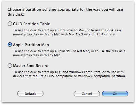 Disk Utility Partition Styles: Lies!