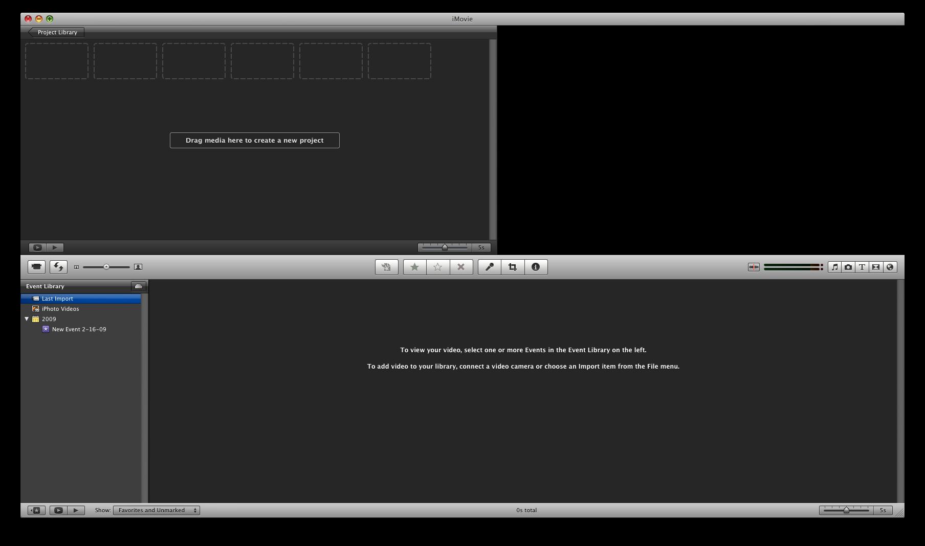 iMovie 8: Blank Slate
