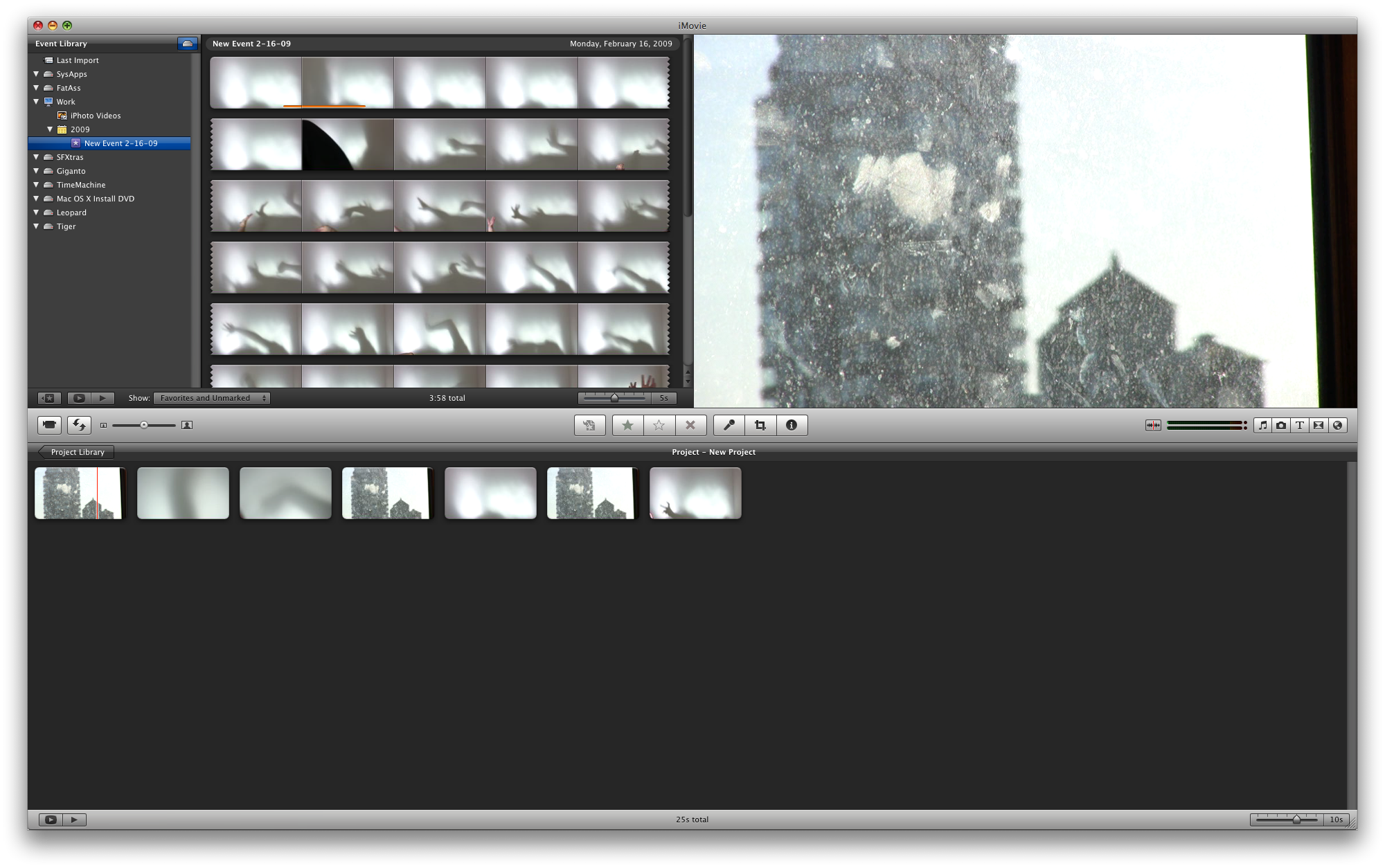 iMovie 8: The Populated Interface