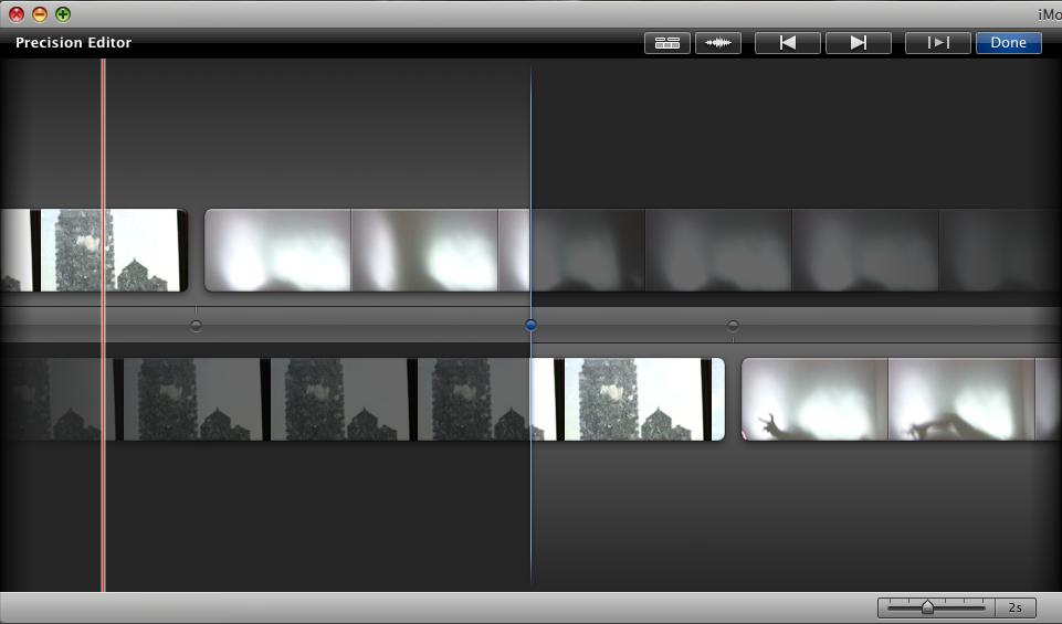 iMovie 8: Precision Editor