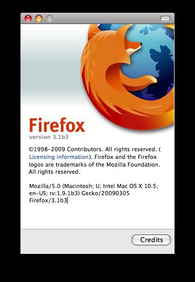 Firefox Beta 3.1