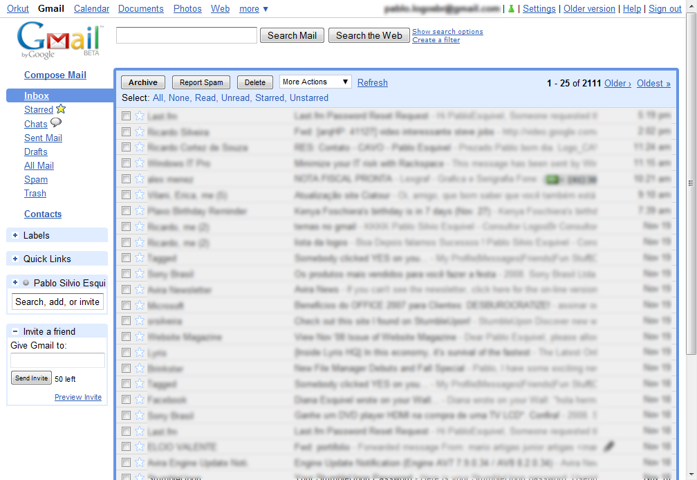 Gmail's Latest Default Theme