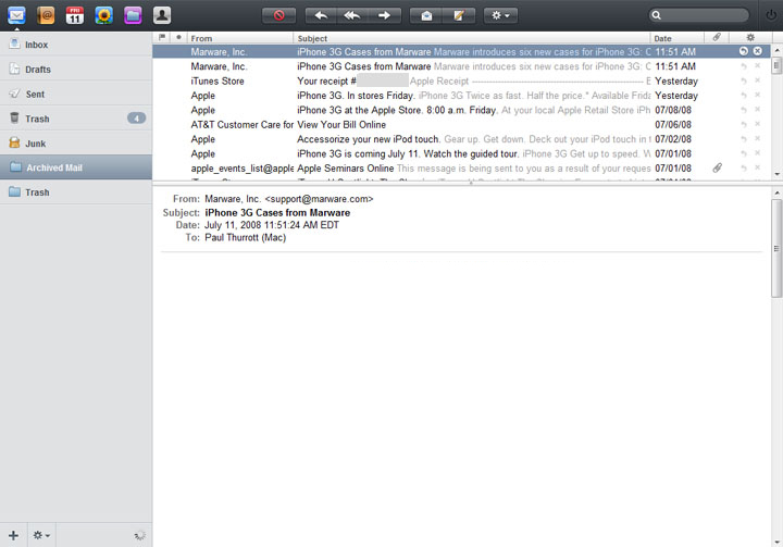Apple's MobileMe Mail