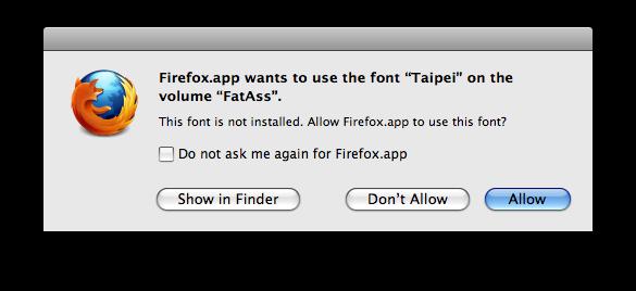 Font Request