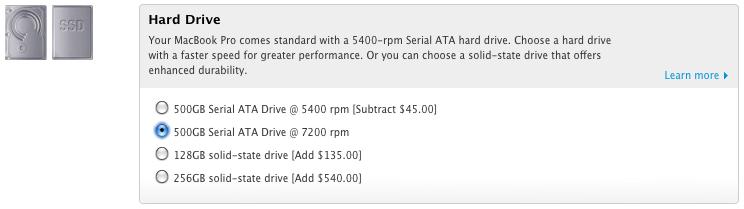 MBP Drive Options