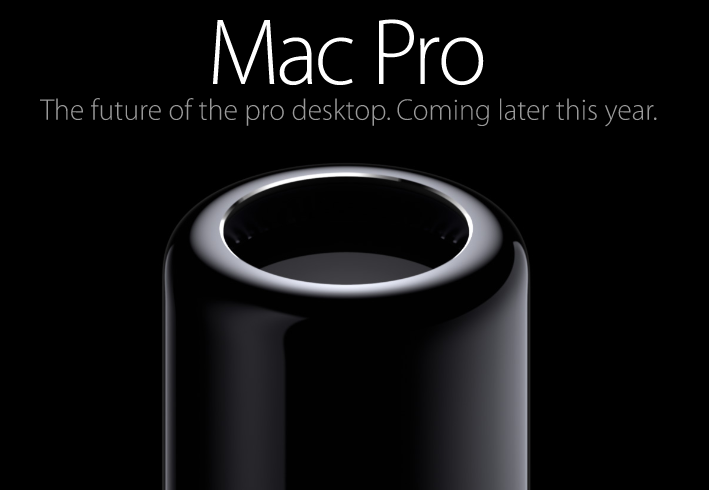 Is that the barrel of a gun? No, it's a Mac Pro.