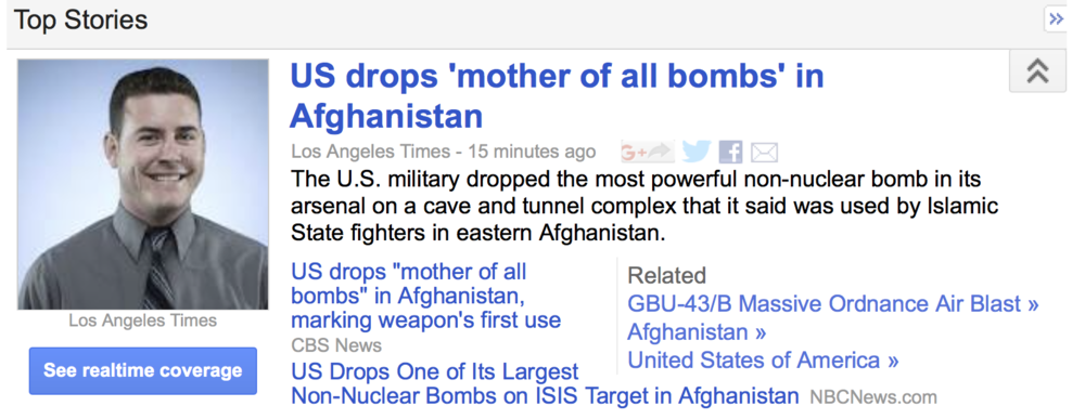 Oh, Google News.