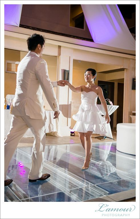 Szewai's students, David and Jeanus, dancing at their wedding. Photo by Lamour Photography.
