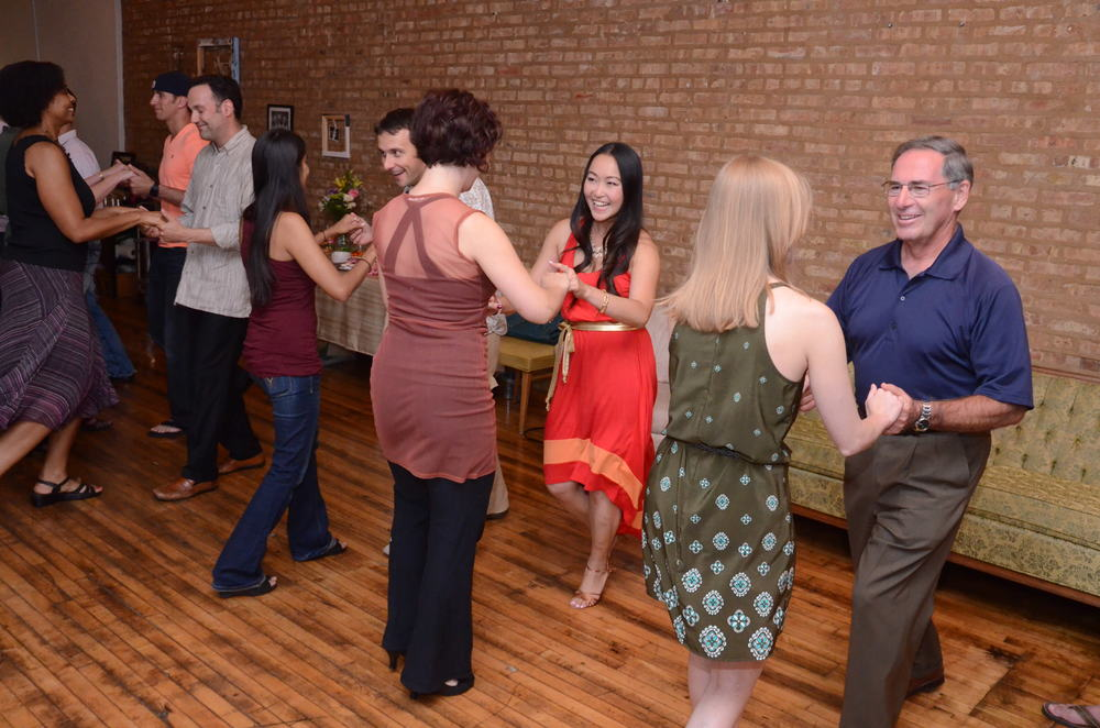 Salsa Dance Class at Duet Dance Studio.  Photo by Jeff Callen.