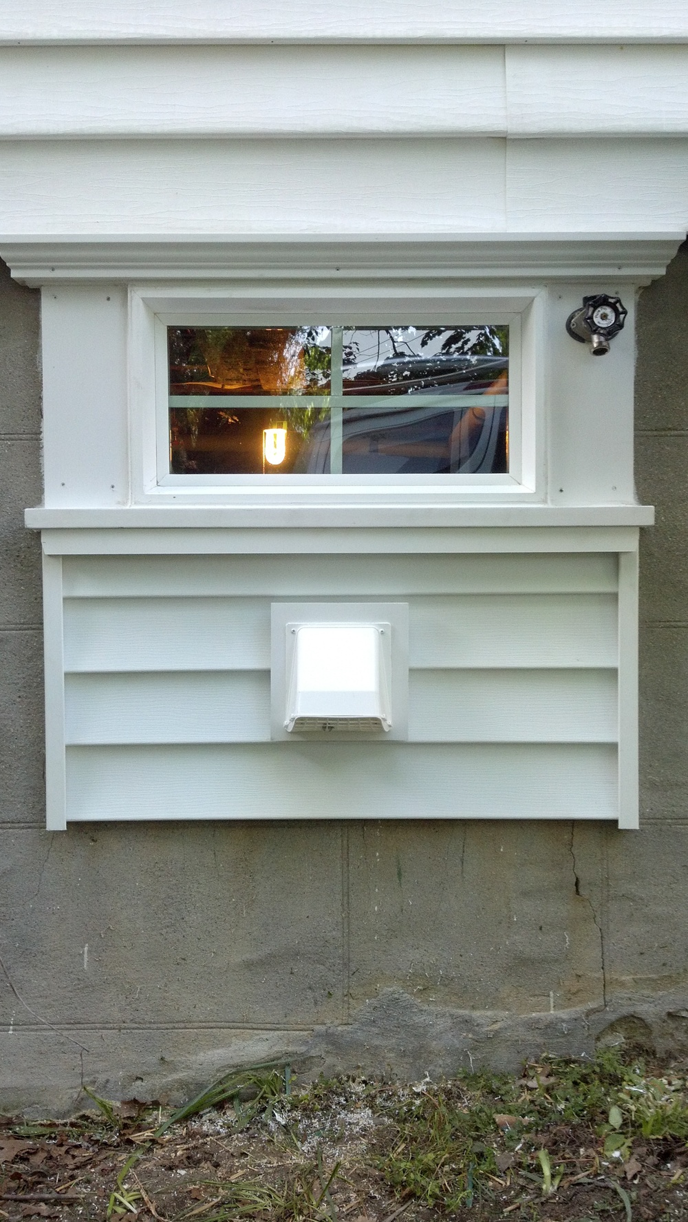 Basement Laundry Window Exhaust