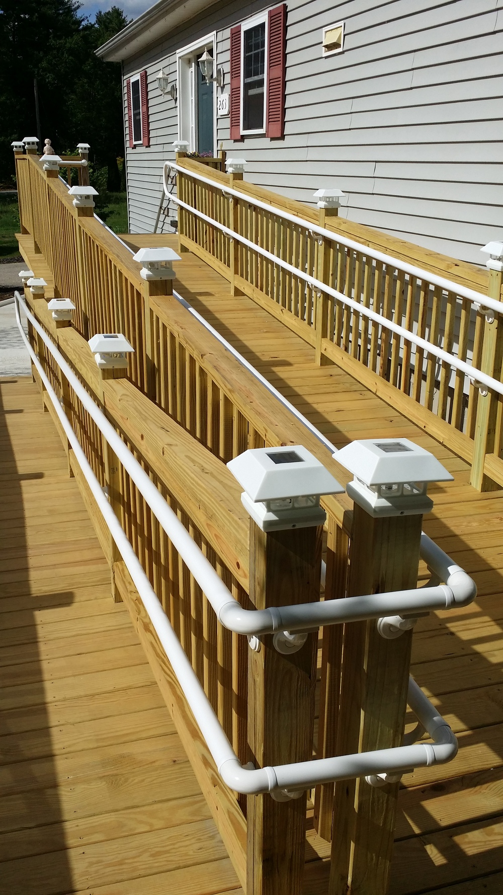 Handicap Ramp with RDI ADA Railings, another view