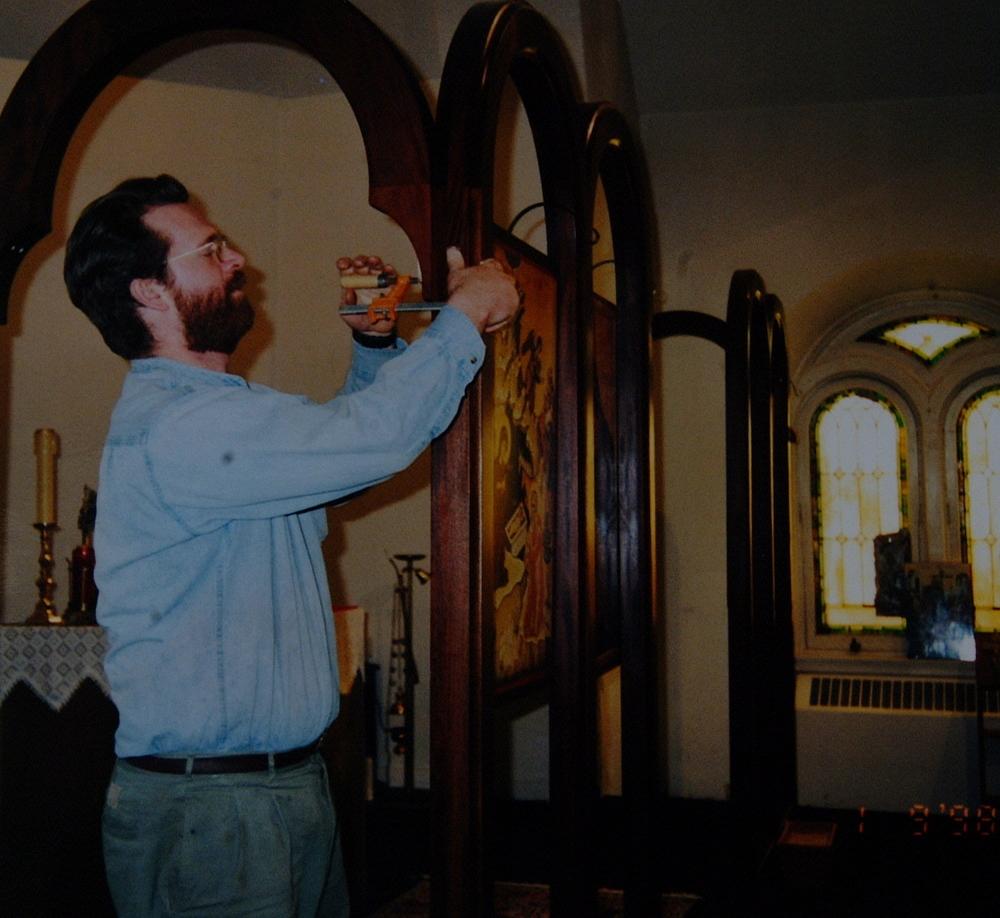Installing the Iconostasis