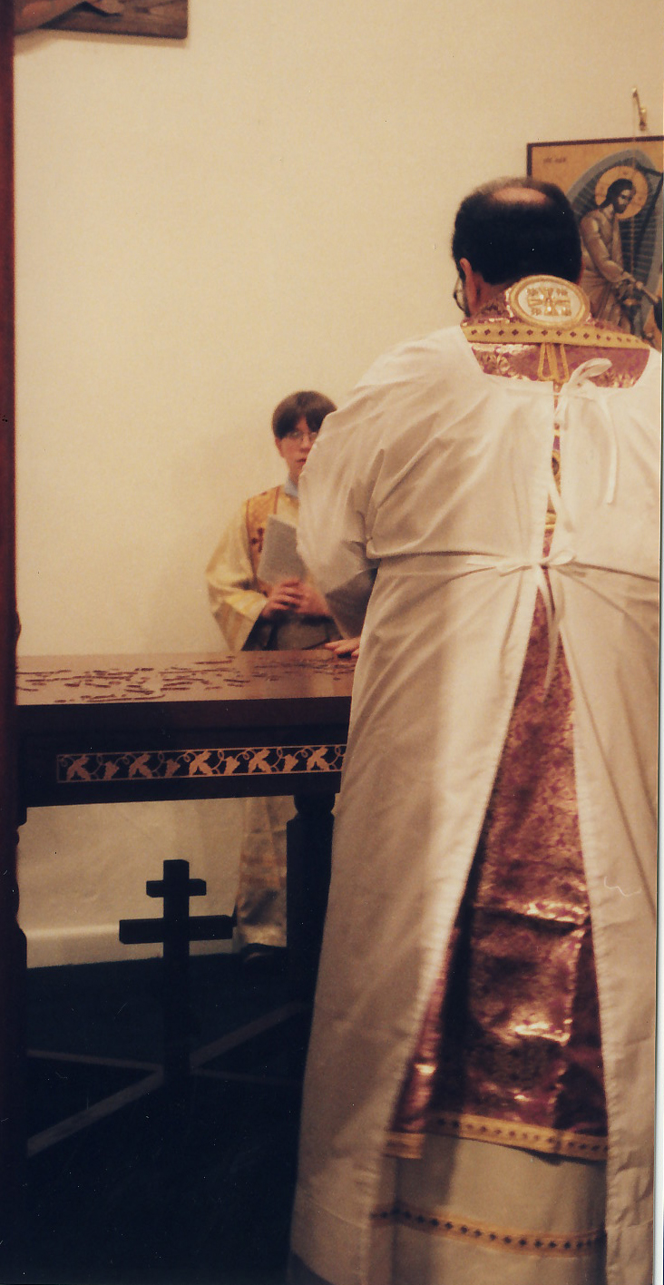 Washing the altar