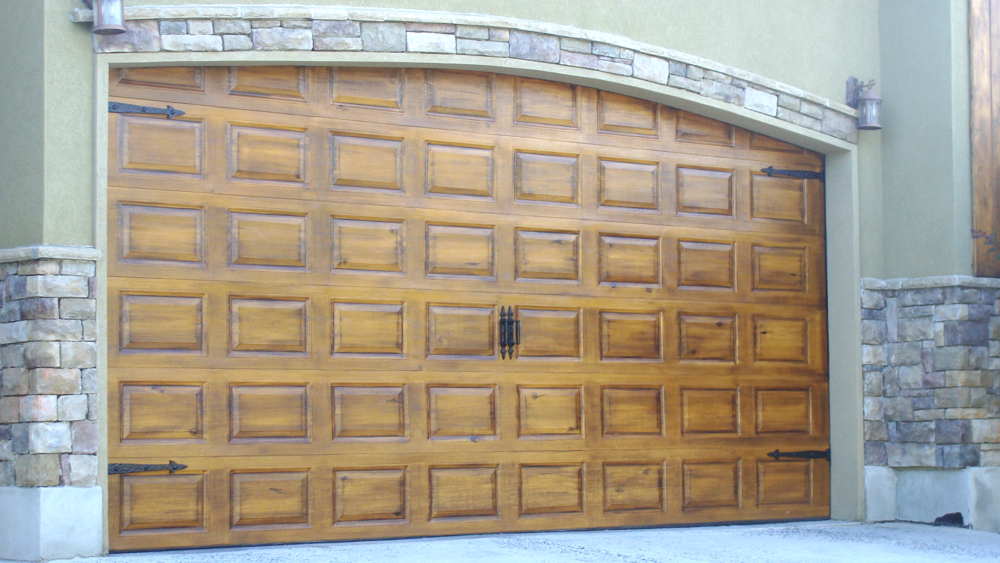 FAUX PAINTED GARAGE DOORS