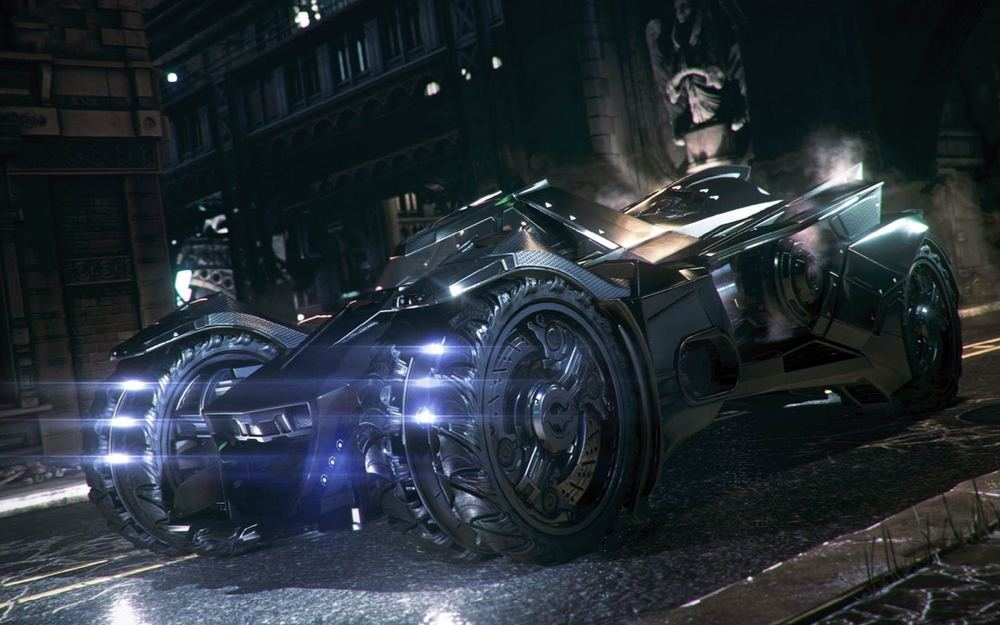 Arkham Knight Batmobile courtesy Warner Bros. Interactive Entertainment & Rocksteady Studios.