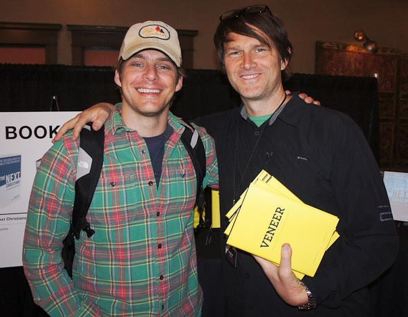 My friend Andrew Palau celebrating with me at  Veneer's  release at the Portland Q Conference.