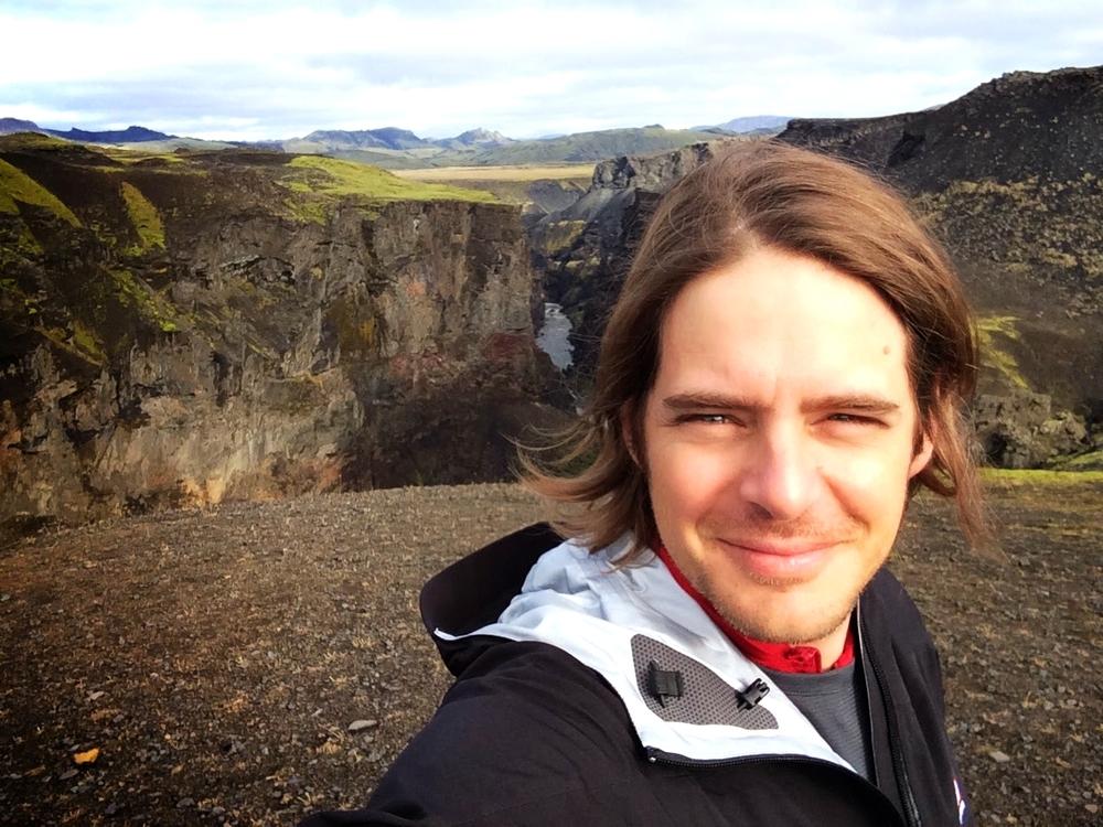 Behind me, Markarfljot River, a short walk from Emstur Hut, Landmannalauger Trail, Iceland